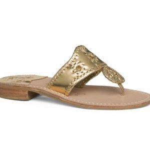 Jack Rogers Gold Flat Sandal